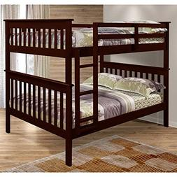 F/F MISSION BUNK BED - DARK CAPPUCINO