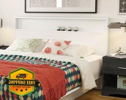 Modern Wood Headboard With Shelf For Queen or Full Size Bed