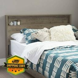 Rustic Wood Headboard With Storage Shelf For Queen or Full S