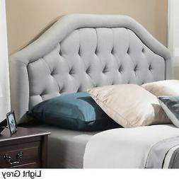 Angelica Adjustable Full/ Queen Tufted Fabric Headboard by L
