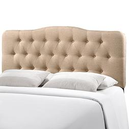 Annabel Fabric Headboard by Modway Beige Full