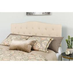 Arched Button Tufted Upholstered Headboard