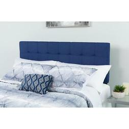 Bedford Tufted Upholstered Full Size Headboard in Navy Fabri