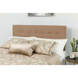 Bedford Tufted Upholstered Twin Size Headboard in Camel Fabr