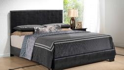 Black – King Size - Modern Headboard Leather Look Upholste