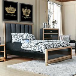 Stylish Contemporary Black Gold Bedroom Glamorous Bed Comfor