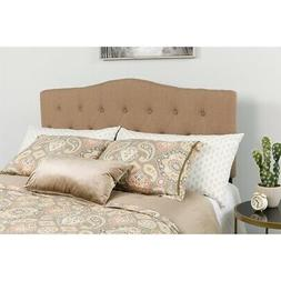 Cambridge Tufted Upholstered Twin Size Headboard in Camel Fa