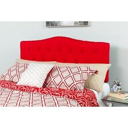 Cambridge Tufted Upholstered Twin Size Headboard in Red Fabr