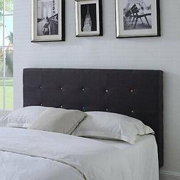Classic Deluxe Tufted Fabric Headboard with Multi-Color Butt
