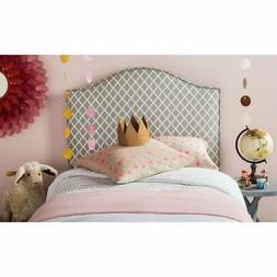 Safavieh Connie Grey/ White Camelback Upholstered Headboard