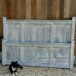 Custom Farmhouse Bed King, Queen, Full, Twin with Custom Col