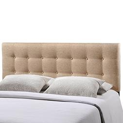 Emily Fabric Headboard by Modway Beige Queen