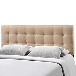 Emily Fabric Headboard by Modway Beige Full