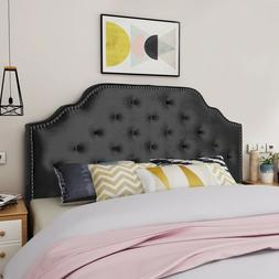 Falcon Contemporary Tufted New Velvet Queen/Full Headboard w