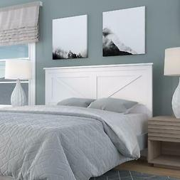 Farmhouse Style Wood Panel Headboard