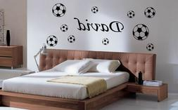 Football Wall Sticker,Decals, home decor Personalised Kid He