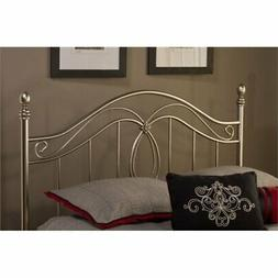 Bowery Hill Full Queen Metal Spindle Headboard in Antique Pe