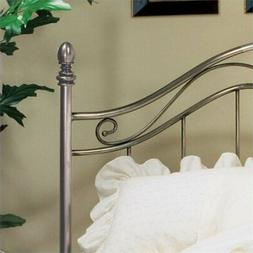 Bowery Hill King Metal Spindle Headboard in Antique Pewter