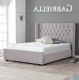Gabriella Fabric High Quality Bed 3FT 4FT6 5FT 6FT Headboard