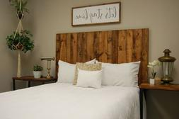 Honey Headboard Stain, Hanger Style, Handcrafted. Mounts on