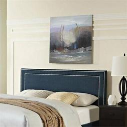 Modway Jessamine Fabric Upholstered Full Headboard in Azure