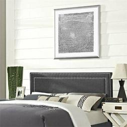 Modway Jessamine Fabric Upholstered Queen Headboard in Gray