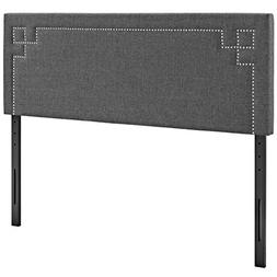 Modway Josie Upholstered Fabric Headboard King Size With Nai