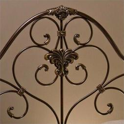 Bowery Hill King Metal Headboard with Frame in Antique