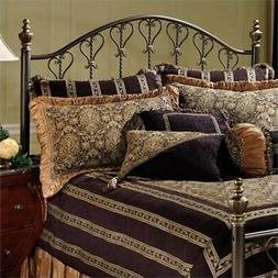 Bowery Hill King Metal Spindle Headboard in Bronze