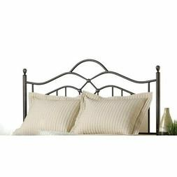 Bowery Hill King Metal Spindle Headboard with Rails in Bronz