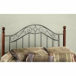 Bowery Hill King Poster Spindle Headboard with Rails in Smok