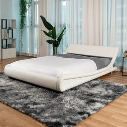 King/Queen/Full PU Leather Metal Bed Frame Platform Headboar