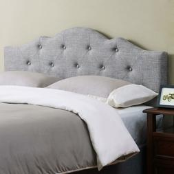 King Size Bed Headboard Standard Frame Minimal Tufted Rounde