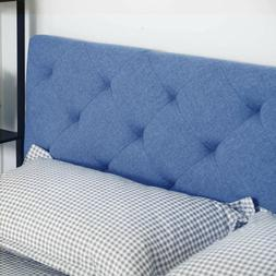 King Size Upholstered Head Board Fabric with 4 Adjustable Po