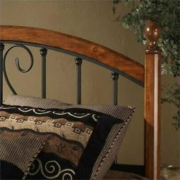 Bowery Hill King Spindle Headboard in Cherry and Black