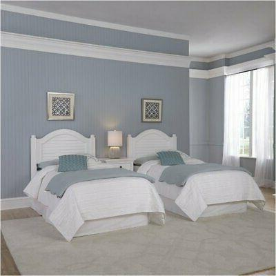 Bowery Twin Headboards and White