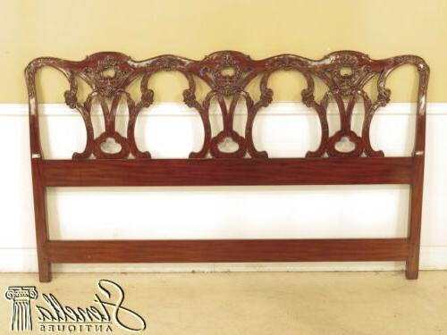 40344 king chippendale style mahogany bed headboard