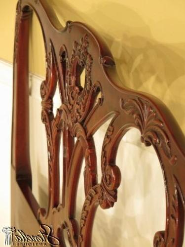 40360: Chippendale Carved Mahogany Bed ~ New