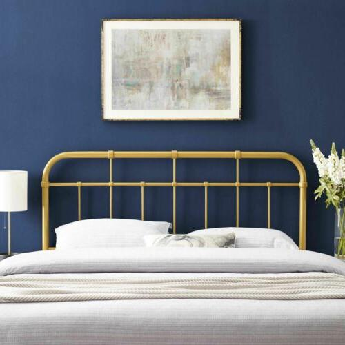 alessia metal headboard