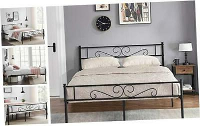bed frame mattress foundation with vintage headboard