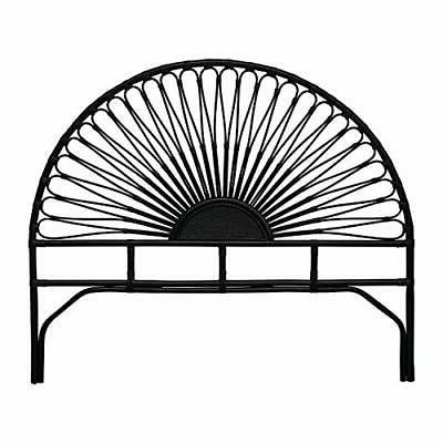 Black Rattan King Size Headboard