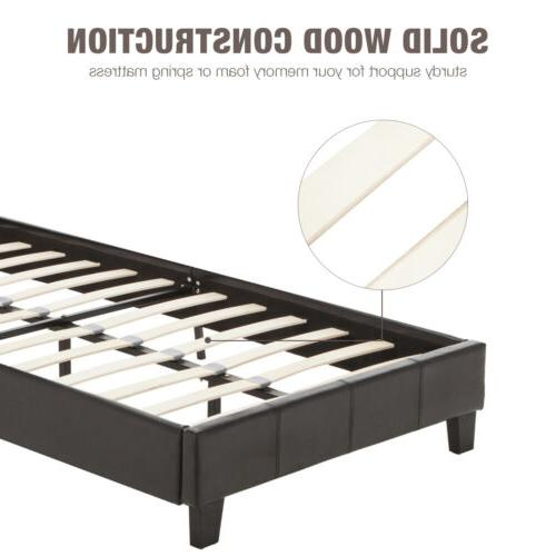 BN Faux Leather Bed Slats Bedroom Full Size