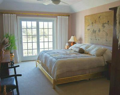 brass bed surround hollywood regency king size
