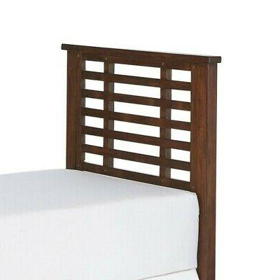 Home Styles Wood Twin Slatted in Chestnut