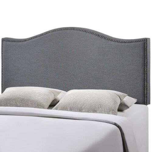 Modway Curl Upholstered Linen Fabric Queen Headboard Size Wi