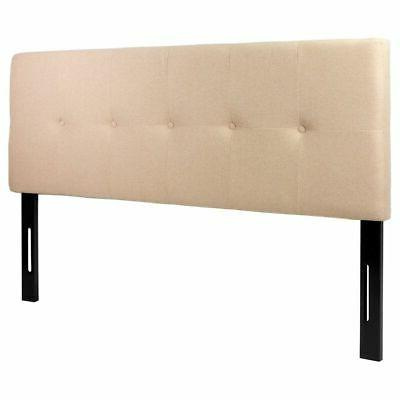 Full Queen Size Linen Tufted Headboard
