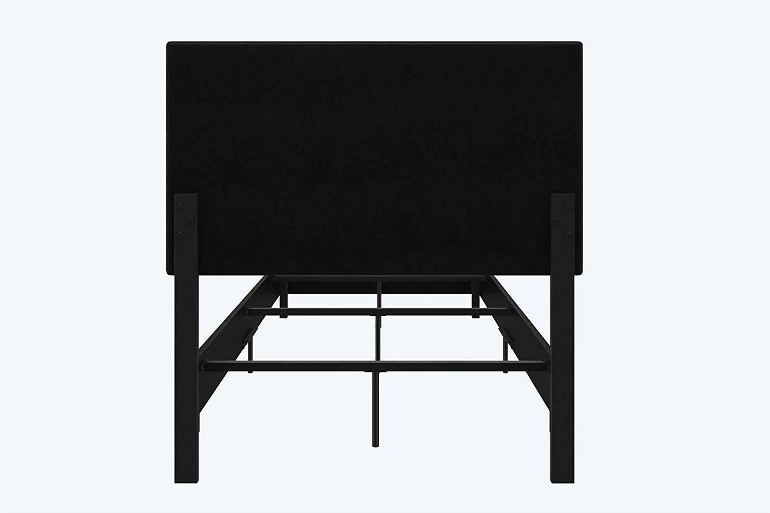 With Chic Upholstered Black