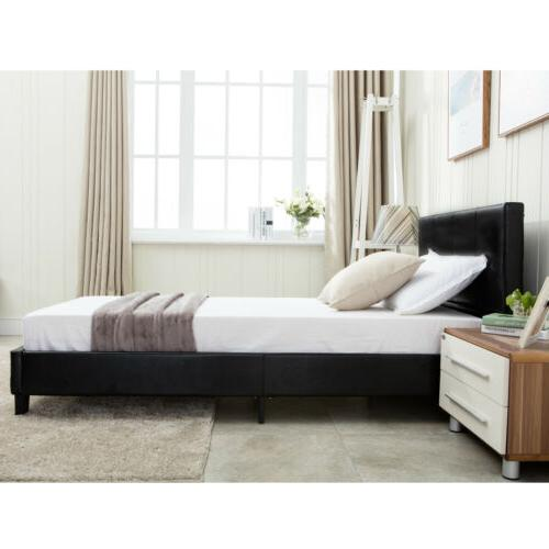 BN Faux Leather Bed Frame Headboard Bedroom Full