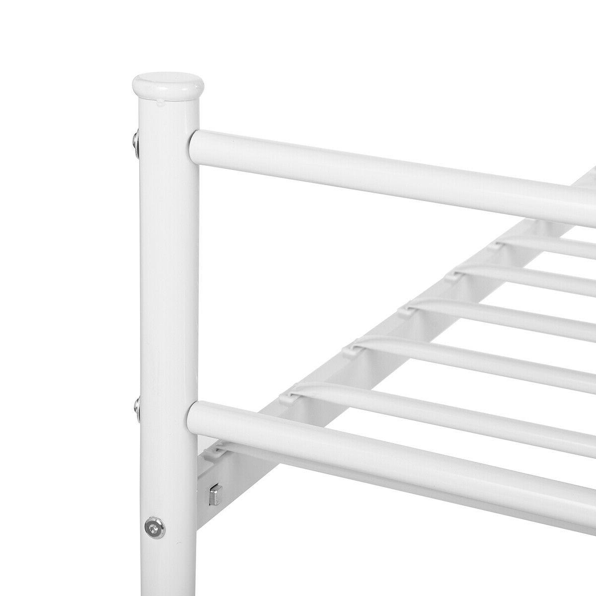 Metal Full Size Bed Frame Mattress Foundation w/ Headboard and