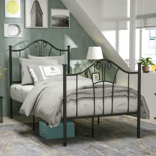 Twin XL Size Bed Frame Footboard Bedroom